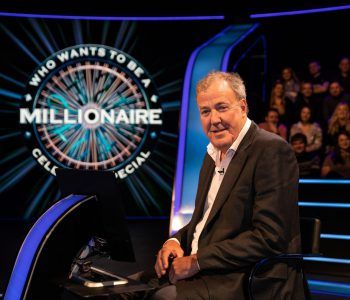 This image is strictly embargoed from publication until 00.01 Tuesday 5th May 2020  From Stellify Media  Who Wants To Be A Millionaire? on ITV   Pictured: Jeremy Clarkson.   This photograph is (C) Stellify Media and can only be reproduced for editorial purposes directly in connection with the programme or event mentioned above, or ITV plc. Once made available by ITV plc Picture Desk, this photograph can be reproduced once only up until the transmission [TX] date and no reproduction fee will be charged. Any subsequent usage may incur a fee. This photograph must not be manipulated [excluding basic cropping] in a manner which alters the visual appearance of the person photographed deemed detrimental or inappropriate by ITV plc Picture Desk.  This photograph must not be syndicated to any other company, publication or website, or permanently archived, without the express written permission of ITV Picture Desk. Full Terms and conditions are available on the website www.itv.com/presscentre/itvpictures/terms  For further information please contact: iwona.karbowska@itv.com / 0207 157 3043